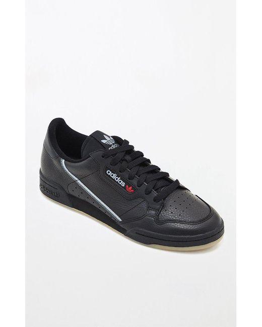 6c2d77c019e Lyst - adidas Continental 80 Black   Gum Shoes in Black for Men
