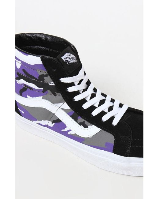 Shoes Sk8 Hi Reissue In Purple Vans Camo Men For Pop Lyst tZIwYZ
