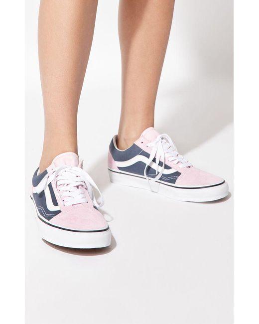 107201b3216e Lyst - Vans Women s Blue   Pink Old Skool Sneakers in Blue