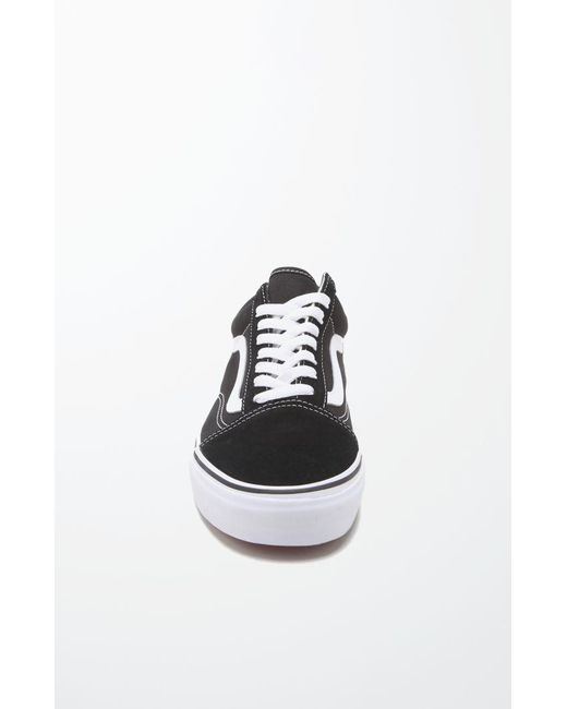 e348260b1a8 Lyst - Vans Canvas Old Skool Black   White Shoes in Black for Men