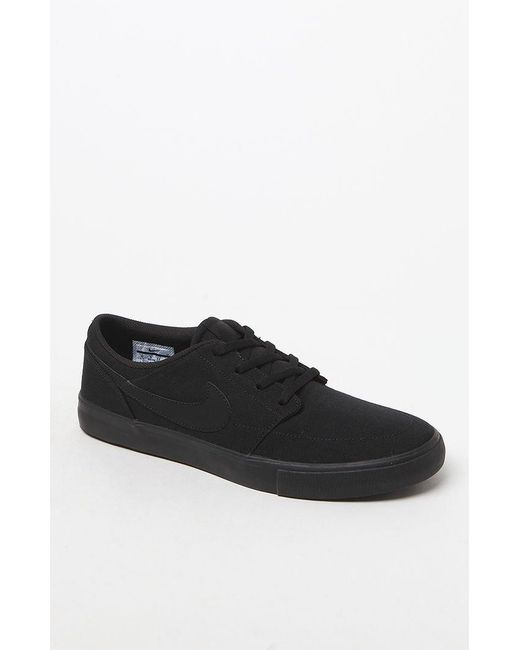 Lyst - Nike Black Solarsoft Portmore Ii Shoes in Black for Men 2728a3665