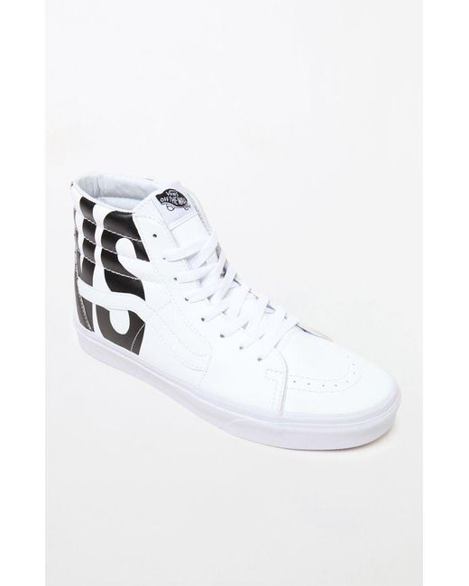56a6319d87 Lyst - Vans Classic Tumble Sk8-hi White Shoes in White for Men ...