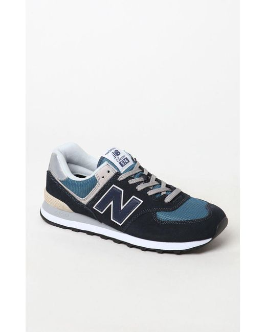 4b8c5aa8f0 New Balance 574 Core Navy Shoes in Blue for Men - Save 54% - Lyst