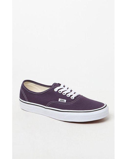 2be38ac047d052 Lyst - Vans Women s Purple Authentic Lo Pro Sneakers in Purple