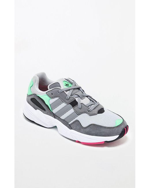 huge discount f22c0 c5e96 Adidas - Gray   Green Yung-96 Shoes for Men ...