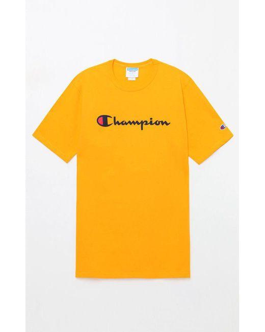 d3ee4ccec53 Champion - White Patriotic Script T-shirt for Men - Lyst ...