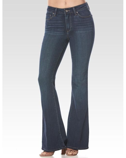 PAIGE - Blue High Rise Bell Canyon Petite - Lyst