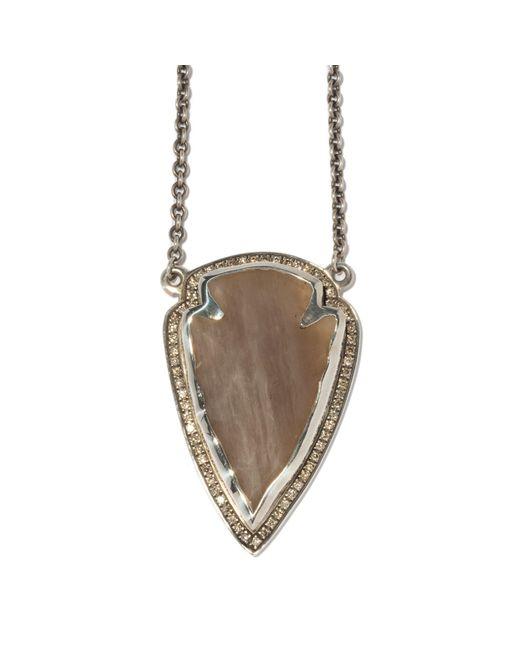 Pamela Love | Metallic Diamond Jasper Pendant | Lyst