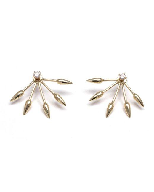 Pamela Love | Metallic Diamond 5 Spike Earrings | Lyst