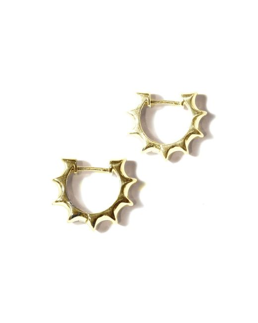 Pamela Love | Yellow Sun Hoop Earrings | Lyst