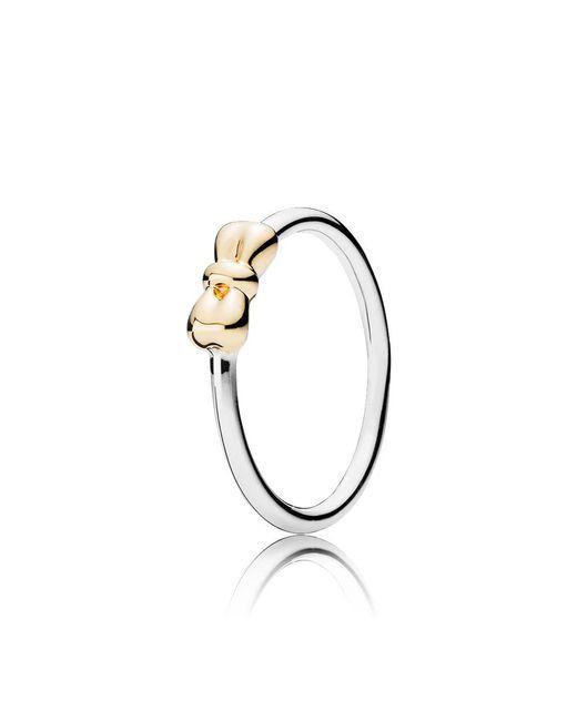 Pandora | Metallic Petite Bow Ring | Lyst