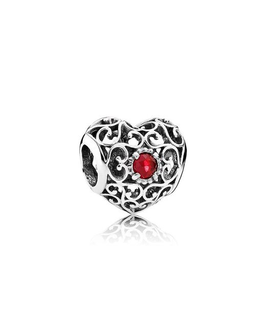 Pandora - Multicolor July Signature Heart Birthstone Charm - Lyst