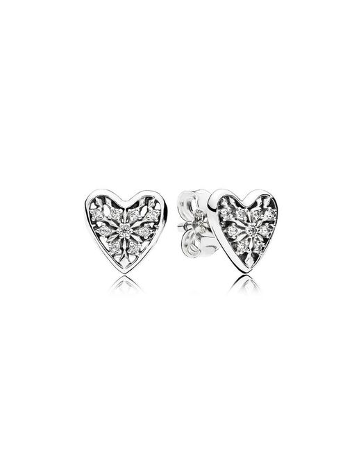 Pandora   Multicolor Hearts Of Winter Stud Earrings   Lyst