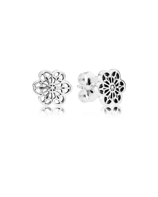 Pandora | Multicolor Floral Daisy Lace Stud Earrings | Lyst