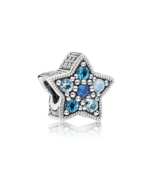 Pandora - Blue Bright Star Charm - Lyst