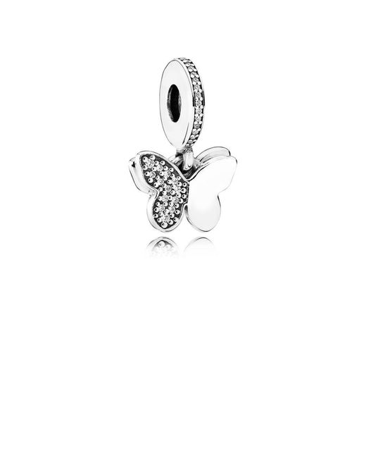 Pandora | Metallic Fluttering Butterflies Pendant Charm | Lyst