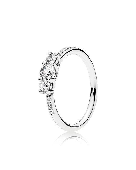 Pandora - Metallic Fairytale Sparkle Ring - Lyst