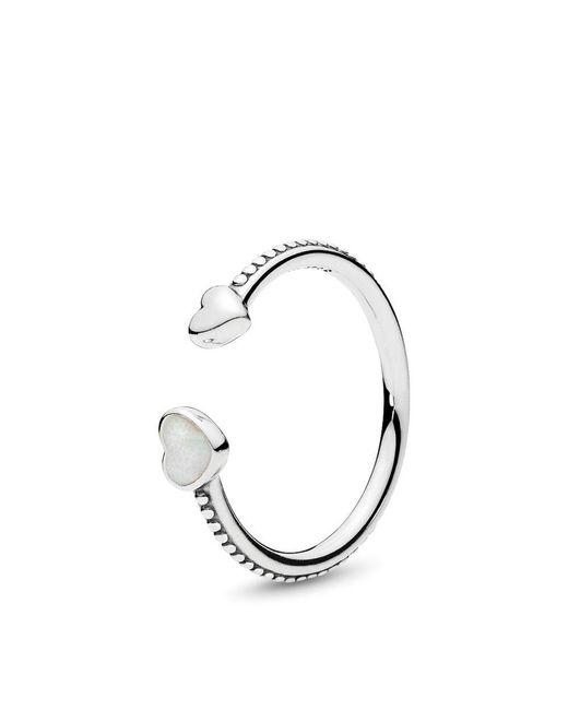 Pandora - Metallic Hearts Of Love Ring - Lyst