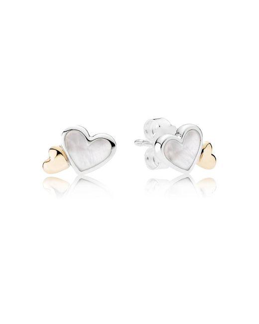 Pandora | Multicolor Luminous Hearts Stud Earrings | Lyst