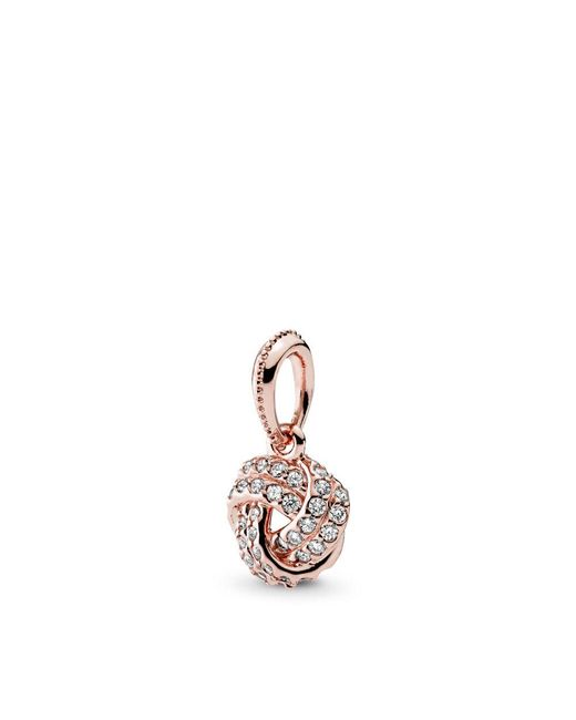 Pandora - Multicolor Sparkling Love Knot Pendant - Lyst