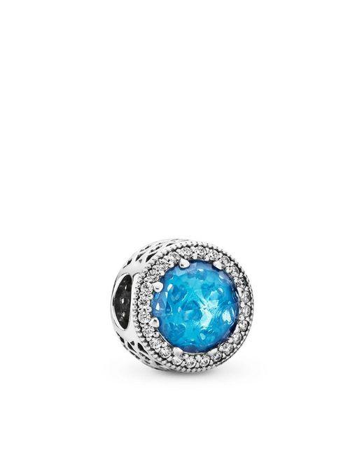Pandora - Sky Blue Radiant Hearts Charm - Lyst