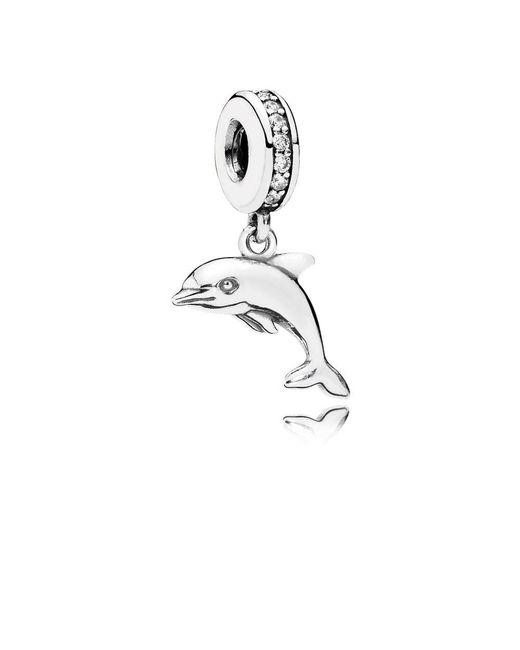 Pandora - Metallic Playful Dolphin Pendant Charm - Lyst