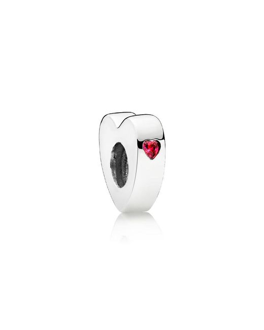 Pandora - Multicolor Two Hearts Spacer - Lyst
