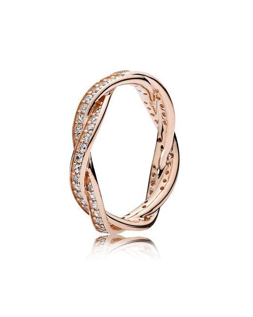 Pandora | Metallic Twist Of Fate Ring | Lyst