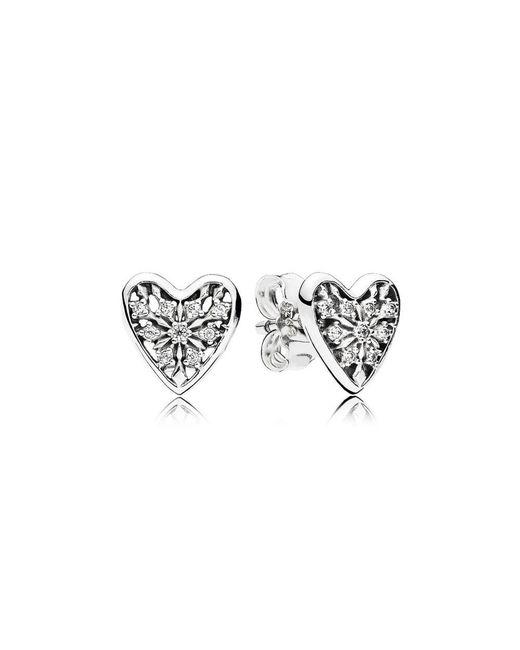 Pandora - Multicolor Hearts Of Winter Stud Earrings - Lyst