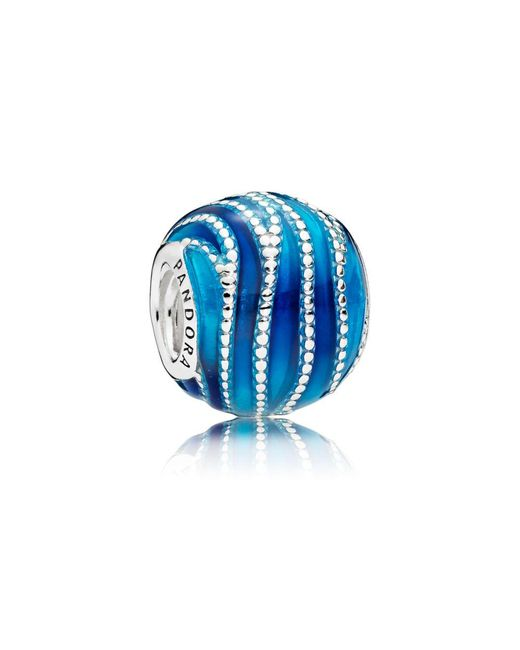 Pandora - Blue Swirls Charm - Lyst
