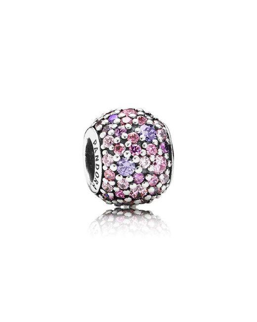 Pandora - Pink Sparkles Pavé Ball Charm - Lyst