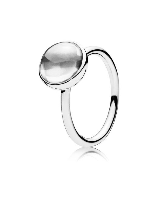 Pandora | Metallic Poetic Droplet Ring | Lyst