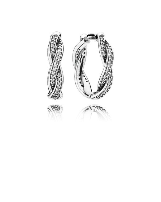 Pandora | Metallic Twist Of Faith Hoop Earrings | Lyst