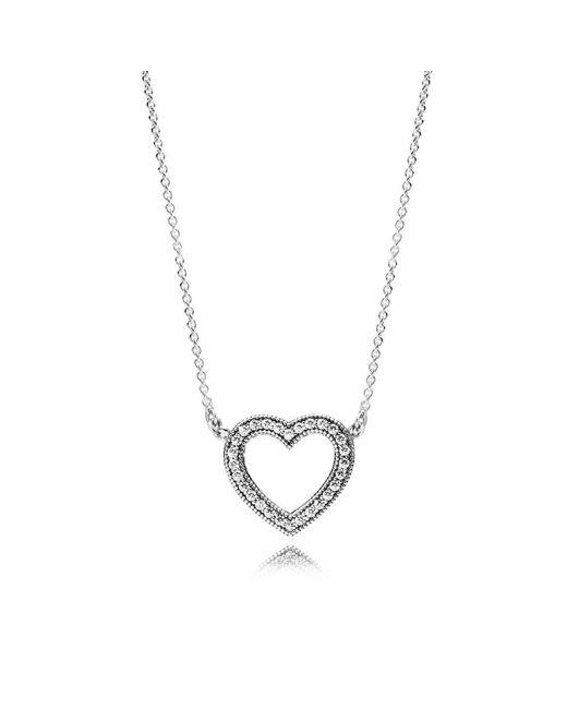Pandora - Metallic Loving Hearts Of Necklace - Lyst