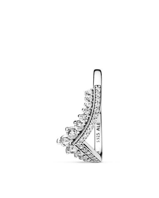 d4aa3e6fd ... Pandora - Metallic Princess Wish Ring - Lyst ...