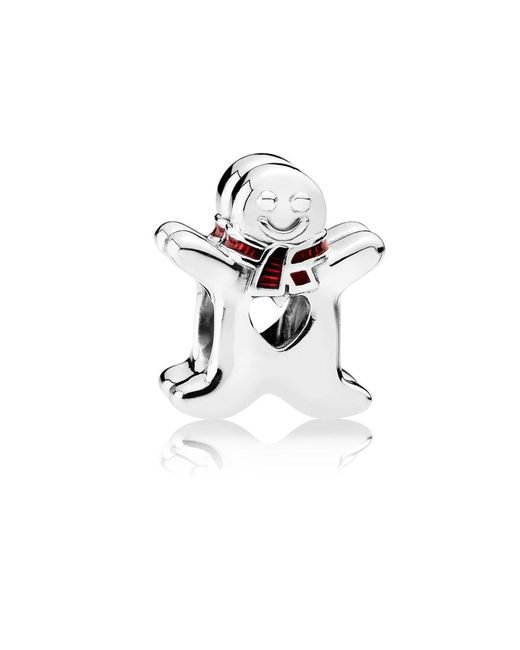 Pandora | White Sweet Gingerbread Man Charm | Lyst