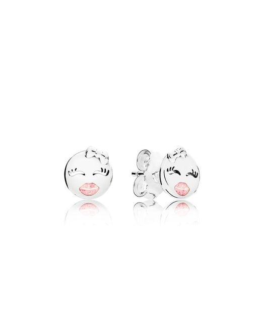 Pandora - Metallic Playful Wink Stud Earrings - Lyst