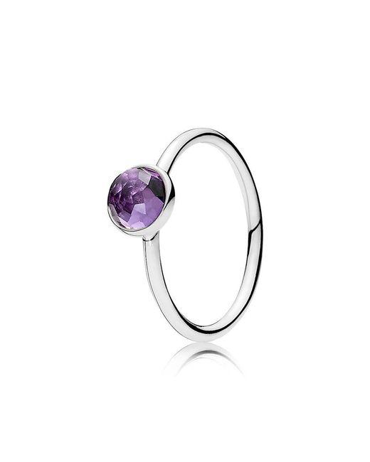 Pandora - Multicolor February Droplet Birthstone Ring - Lyst