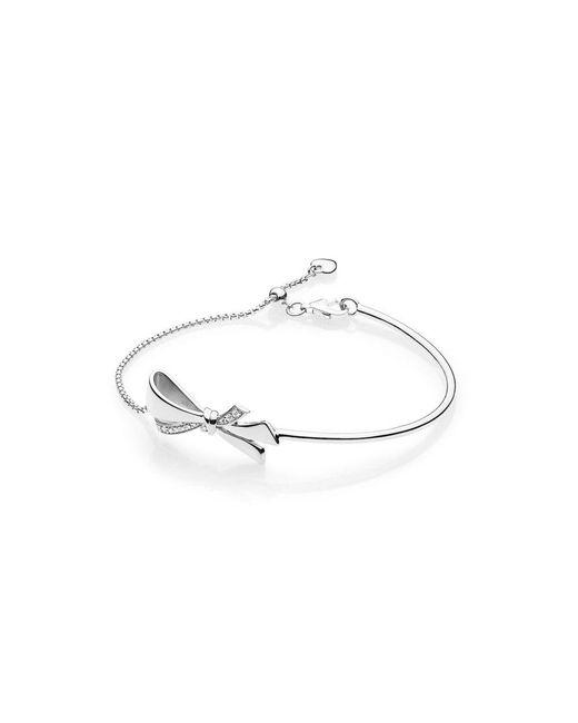 Pandora - Metallic Brilliant Bow Bracelet - Lyst
