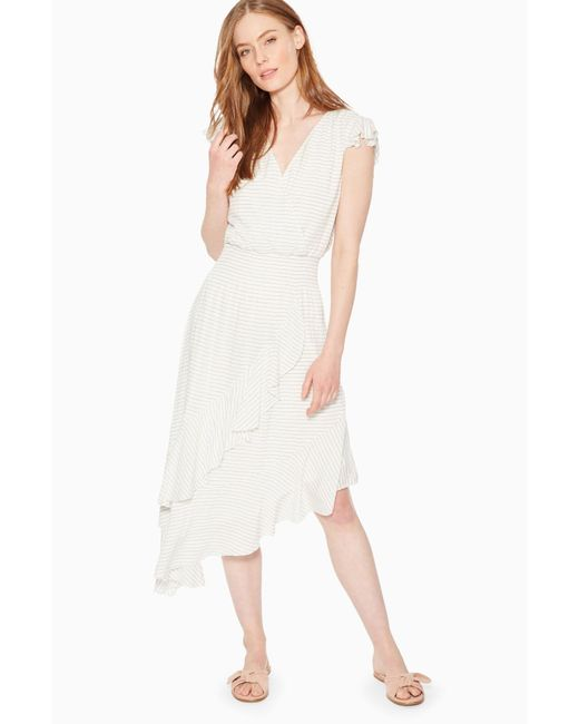 Parker - White Jannie Striped Dress - Lyst