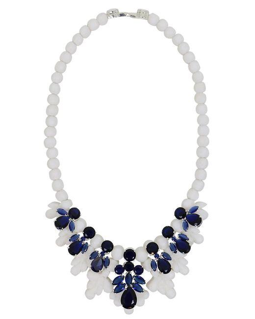EK Thongprasert | Silicone Seven Jewel Neckpiece White/dark Blue Crystals | Lyst