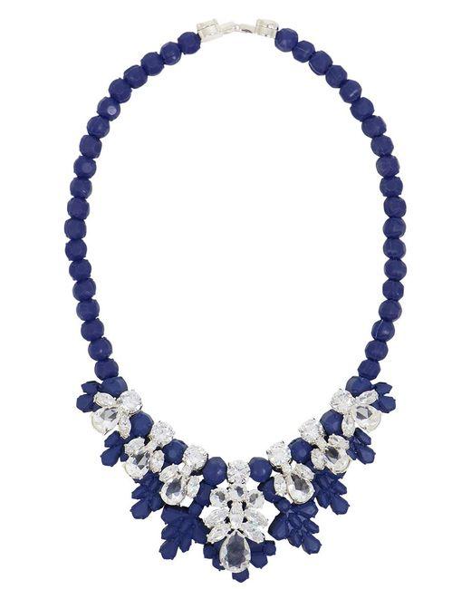 EK Thongprasert | Silicone Seven Jewel Neckpiece Dark Blue/white Crystals | Lyst