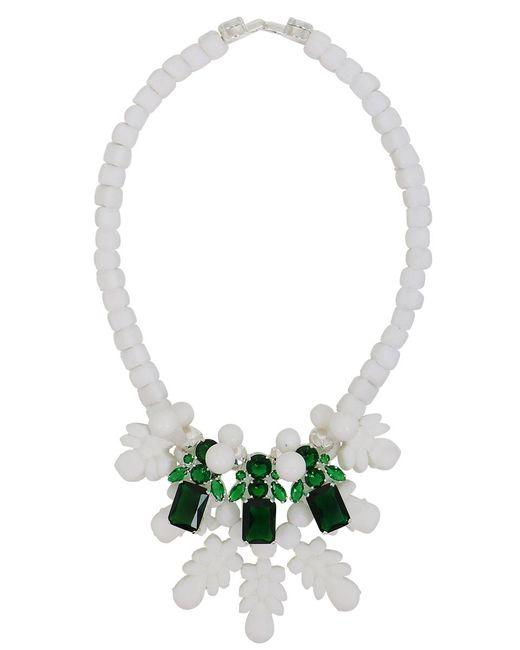 EK Thongprasert | Silicone Three Jewel Neckpiece White/green Crystals | Lyst
