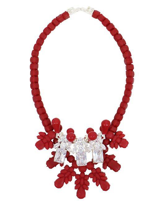 EK Thongprasert | Silicone Three Jewel Neckpiece Red/white Crystals | Lyst