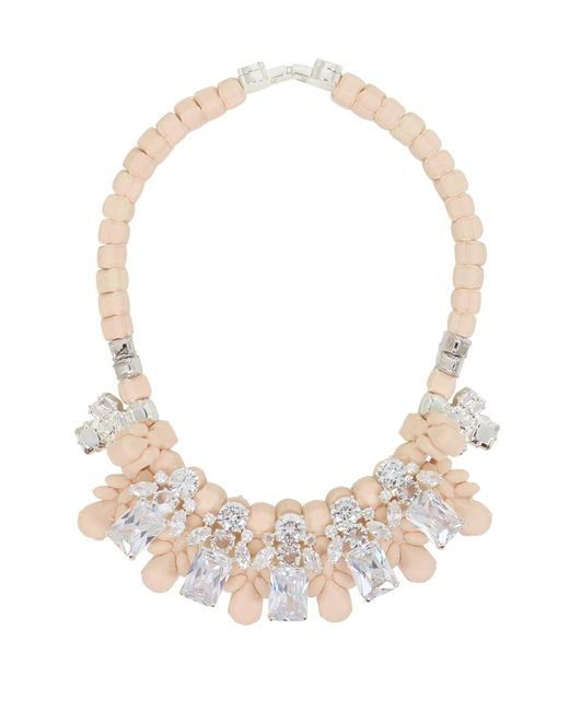 EK Thongprasert | Natural Silicone Five Jewel & Metal Neckpiece Beige/white Crystals | Lyst