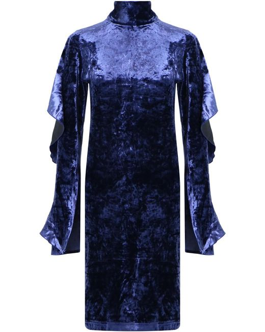 Strateas Carlucci - Orchid Velvet Dress Blue - Lyst
