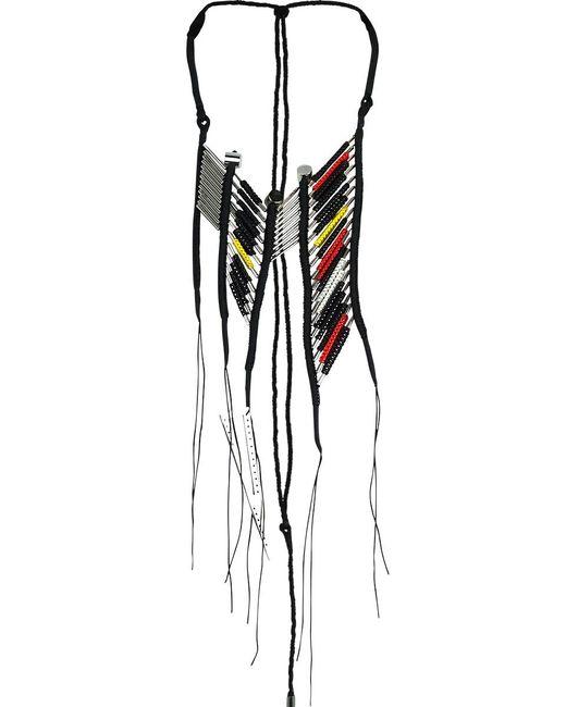 En Inde - Suez Handwound Neckpiece Black/red/yellow - Lyst