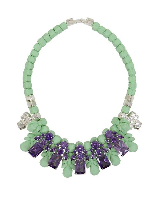 EK Thongprasert | Green Silicone Five Jewel & Metal Neckpiece Mint/amethyst Crystals | Lyst