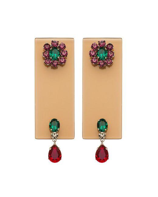 Sylvio Giardina - Multicolor Perspex Rectangular Drop Earrings Champagne - Lyst
