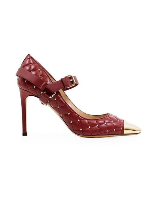 Valentino - Multicolor Quilted Spike 90mm Heel Rubino - Lyst